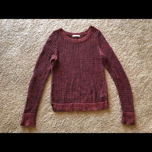 Red knitted Old Navy sweater